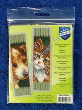 Vervaco Bookmarks Cat and Dog Aida Set of 2