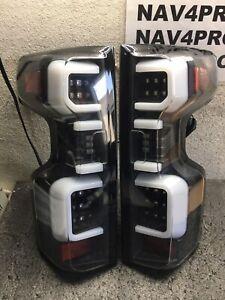 2019-2020 Chevy Silverado 1500 [LED Model] Black Full LED Tail Lights Pair #T173