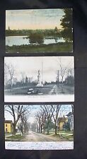 Lot of 3 1906-1908 Wallingford, Connecticut Postcards - Undivided & DIvided Back