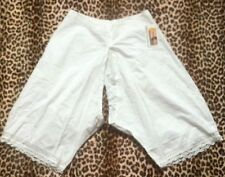 FRENCH 1800s WOMAN PANTIES BLOOMERS KNICKERS~OPEN-CROTCH~WHITE COTTON~NEW~W:30