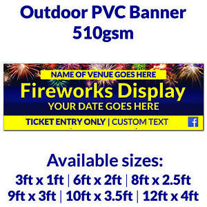 Personalised Fireworks Bonfire Display Outdoor PVC Banner Business Park Event
