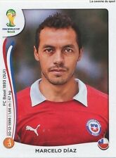 N°158 MARCELO DIAZ # CHILE STICKER PANINI WORLD CUP BRAZIL 2014