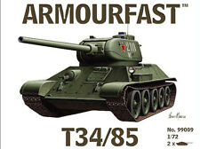Armourfast 99009 1:72 WWII Russian T-34/85 Tank (2 Models)