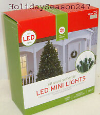 60 LED Mini Dome Cool White Light String Set Christmas Holiday Outdoor Decor New