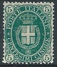 1889 REGNO UMBERTO I STEMMA 5 CENT MH * - RR13770