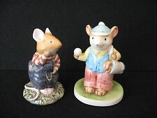 LOT 2 mouse figures ROYAL DOULTON Wilfred Toadflax NAPCOWARE meadow mouse