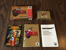 Zelda: Ocarina of Time Gold Collectors Edition (Nintendo 64, N64) Complete -- VG