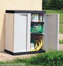 Medium Garden Storage Chest Cupboard Cabinet Box Shelves Tool Box Sturdy New