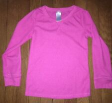 ! childrens place pink waffle knit long sleeve pajama top pj jammies small 5 / 6
