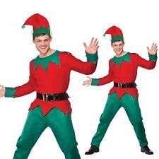 Christmas Adult Men Elf Costume Xmas Helper Fancy Dress Outfit One Size