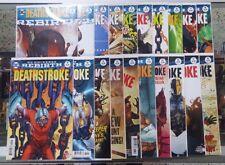 Set of 20: DEATHSTROKE Rebirth #1 - 18 - DC Comics 2016 - 2017  VF+/NM @