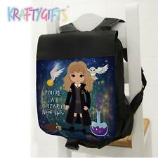 Girls School Backpack Harry Potter Hermione Black Sports Bag *Personalised* ET06