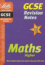 Very Good, GCSE Revision Notes: Maths Higher: Higher Level (GCSE revision & exam