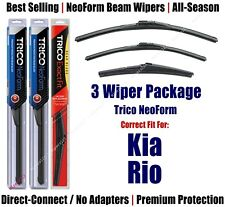 3-Pack Wipers Front & Rear NeoForm - fit 2012-2017 Kia Rio - 16260/160/11A