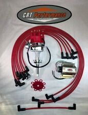 MOPAR 413-426-440 Red SMALL Cap HEI Distributor, 60K COIL + Spark Plug Wires USA