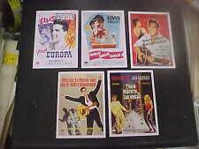 ELVIS PRESLEY,  5 different German film cards [10 x 14 cm]