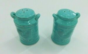 Country Rooster Salt & Pepper Shakers in Ceramic Turquoise