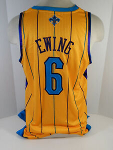 2011-12 New Orleans Hornets Patrick Ewing #6 Game Issued Gold Jersey 2XL2 454