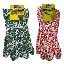 Ladies Floral Gardening Gloves Light Duty Indoor & Outdoor Working Cotton Gloves