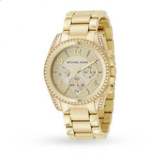 NEW MICHAEL KORS MK5166 LADIES BLAIR CHRONOGRAPH PVD GOLD WATCH