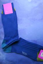Paul Smith Para Hombre Longitud Media Tacón italiano Calcetines Medio Dedo del Pie Azul F868N 100% algodón