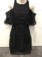 Kookai Black Lace Dress Size 38 rrp $ 280