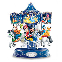 Disney Believe In Magic Rotating Musical Carousel Bradford Mickey and Friends