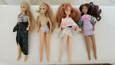 Lot of 4 Vintage Mixed Jpi Inc 6.5 inch Barbie dolls