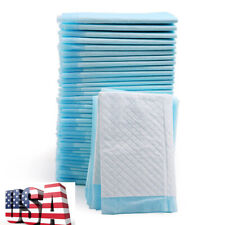 New listing Training Dog Pads. Thick & Soft, Xtra Absorbent Puppy Pads White and Blue Color