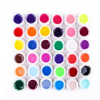36 Pots Pure Colors Decor UV Gel Nail Art Tips Shiny Cover Extension Manicure