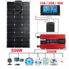 500W Solar Panel 3000W Power System Kit10-30A Charge Controller Power Generation