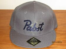 New Pabst fitted flat brim cap hat- Vintage/Retro Beer