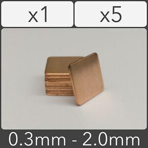 Copper Shim 15mm x 15mm Heatsink Thermal Pad GPU CPU Laptop - 0.3mm to 2.0mm