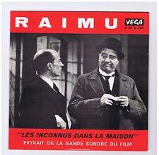 LP 25 CM HOMMAGE A RAIMU PAR GEORGES SIMENON+OST LES INCONNUS DANS LA MAISON