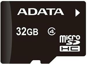 ADATA 32GB microSDHC Class 4 Memory Card with Adapter (AUSDH32GCL4-RA1)