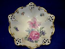 "Antique Rosenthal Moliere Pierced Bowl  7 3/4""  Free Shipping"