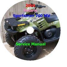 2004 Polaris Sportsman 700 MV  Service Manual PDF CD Format
