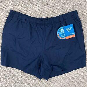 "New Columbia Womens Backcast PFG Shorts Omnishade UPF Blue 5"" Inseam Size XL"