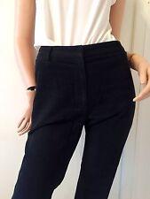 COSTUME NATIONAL Sleek Black Cotton Velvety Pants (retail £450)