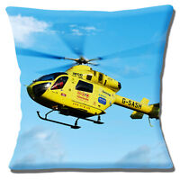 Yorkshire Air Ambulance Cushion Cover Yellow Helicopter 16 inch (40cm)