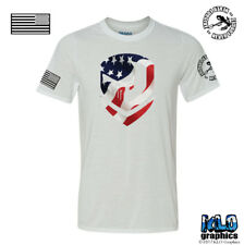 PUNISHER FLAG Kyle Tribute T-Shirt Full Color Proud to be an American MILITARY