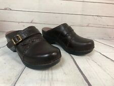 Sanita Size 38 Clogs US 7.5 Slip On Backless Brown