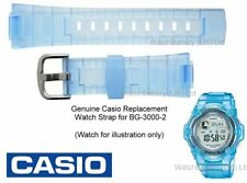 Genuine Casio Watch Strap Band. Replacement for BG-3000 Baby-G Watch. Blue Resin