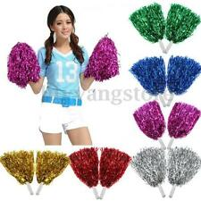 1 Pair Girls Cheerleader Pom Poms Cheerleading Cheer Dance Party Club Decor