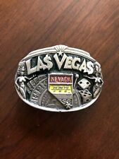 Las Vegas Nevada Casino 777 Gambling Lucky 7 Metal Unisex Men's Belt Buckle