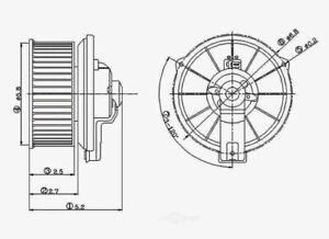 HVAC Blower Motor Rear Global 2311314