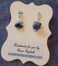 SAGITTARIUS ZODIAC BIRTHSTONE BLUE SODALITE SEMI-PRECIOUS GEMSTONE earrings
