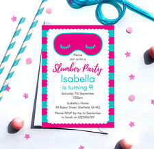 Slumber Party Birthday Invitations *Any Age* - pack of 10 with envelopes