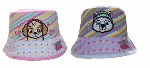 Paw Patrol Dogs Pups Baby Girls Kids Character Holiday Sun Bucket Hat