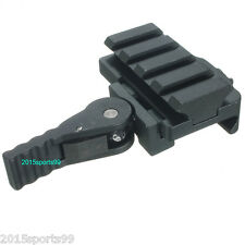 Tactical Compact Quick Release Scope Rilfe Mount 4 picatinny slots Riser Rail